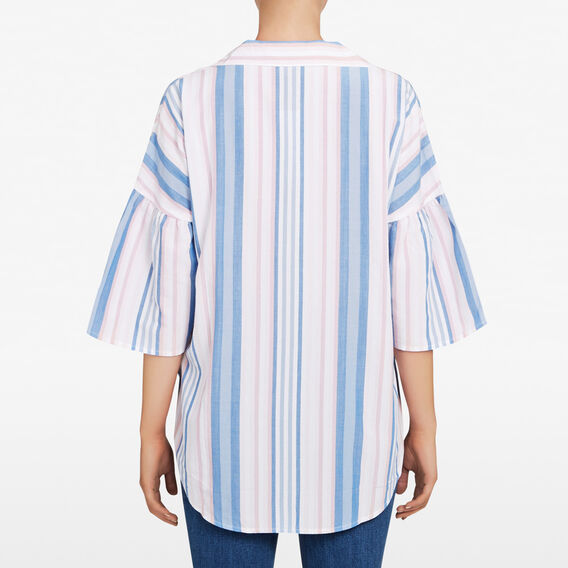 PASTEL STRIPE SHIRT  SUMMER WHITE/MULTI  hi-res