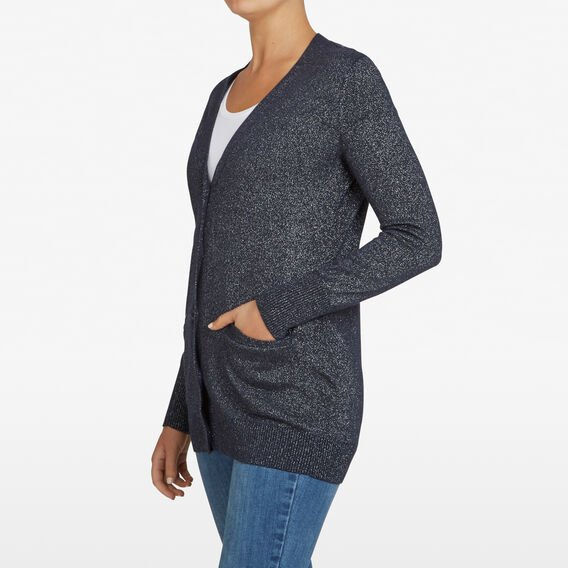 LUREX BOYFRIEND CARDIGAN  NAVY  hi-res