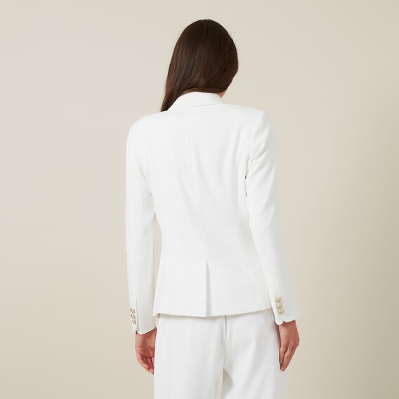 DOUBLE BREASTED BLAZER  WHITE  hi-res
