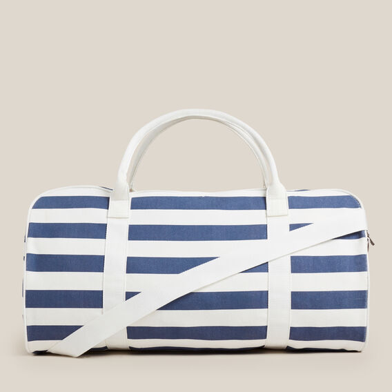 STRIPE DUFFLE BAG  NAVY/WHITE  hi-res