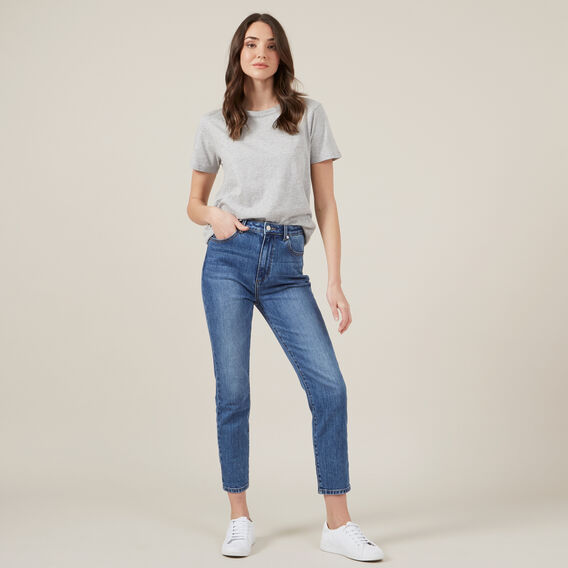 HIGH RISE SLIM JEAN  MID WASH  hi-res