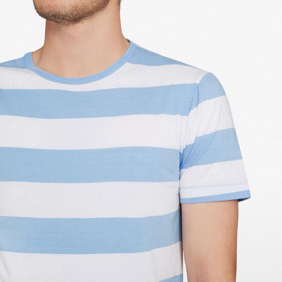 CLASSIC BOLD STRIPE CREW NECK T-SHIRT  SKY BLUE/WHITE  hi-res