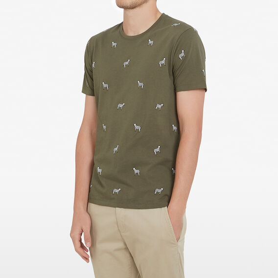 ALL OVER ZEBRA T-SHIRT  OLIVE  hi-res