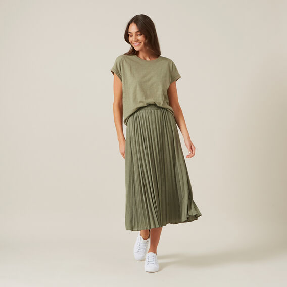 RELAXED TEE  WASHED KHAKI  hi-res