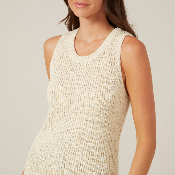 KNITTED TANK  OATMEAL  hi-res