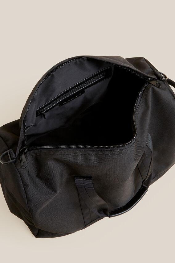 NYLON GYM BAG  BLACK  hi-res