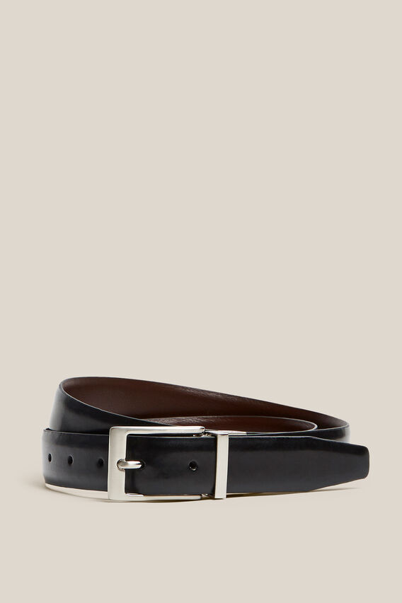 REVERSIBLE FORMAL BELT  BLACK/TAN  hi-res