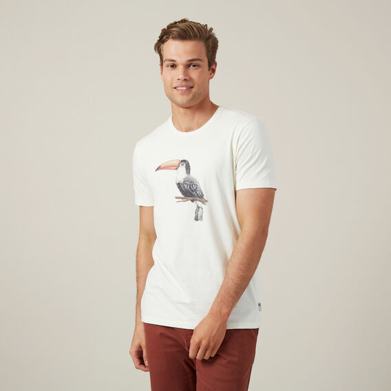 TOUCAN PLACEMENT T-SHIRT  OFF WHITE  hi-res