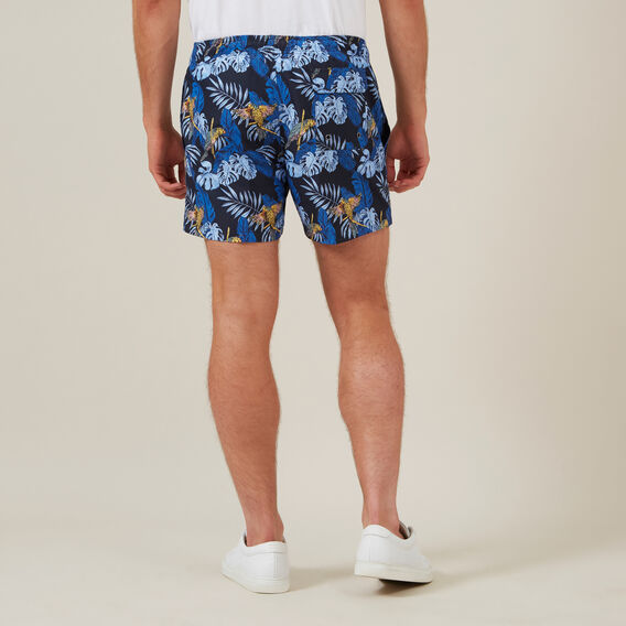 PARROT LEAF SWIM SHORT  MARINE BLUE  hi-res