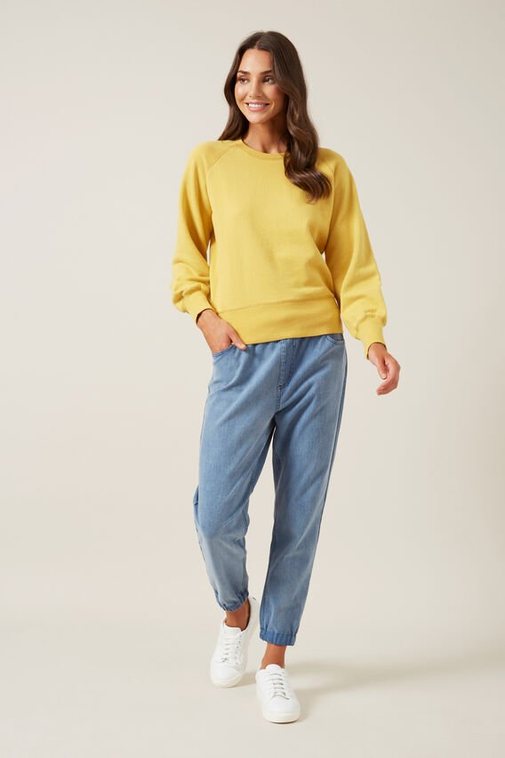 RELAXED CUFFED DENIM JOGGER  LIGHT VINTAGE  hi-res