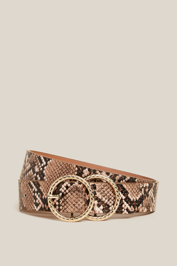 SNAKE DOUBLE RING BELT  MULTI  hi-res