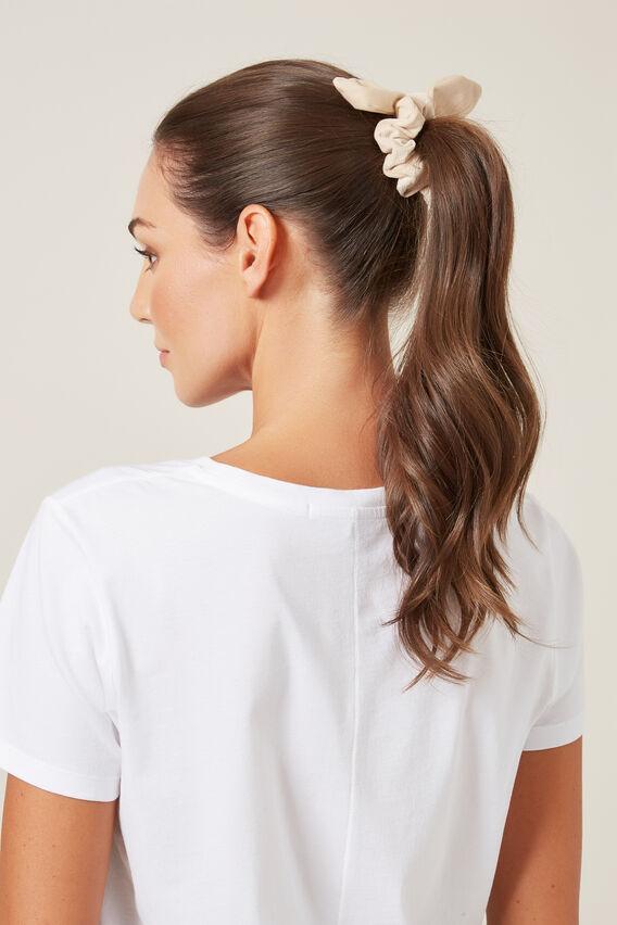 CORD HAIR SCRUNCHIE   OATMEAL  hi-res