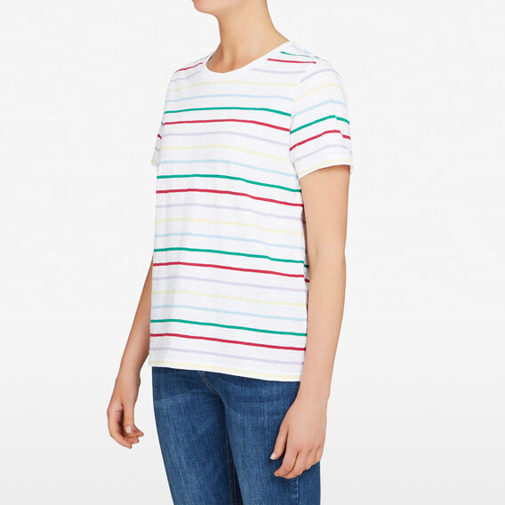 BRIGHT STRIPE TEE  MULTI  hi-res