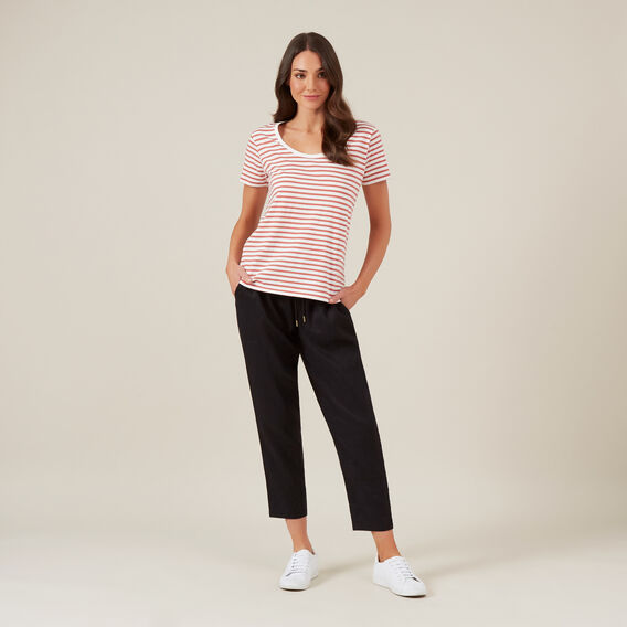 RELAXED LINEN PANT  BLACK  hi-res