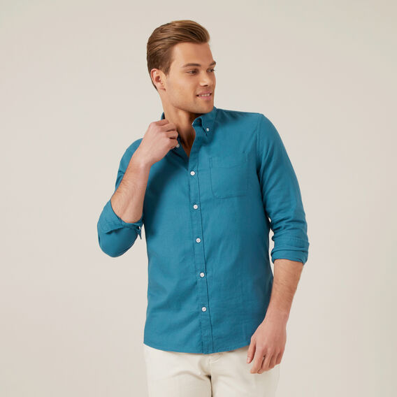 OCEAN BLUE L/S CUSTOM FIT SHIRT  OCEAN BLUE  hi-res