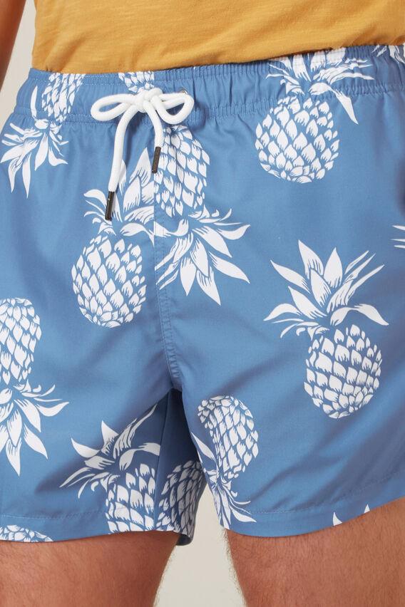 LARGE PINEAPPLE SWIM SHORT  DUSK BLUE  hi-res