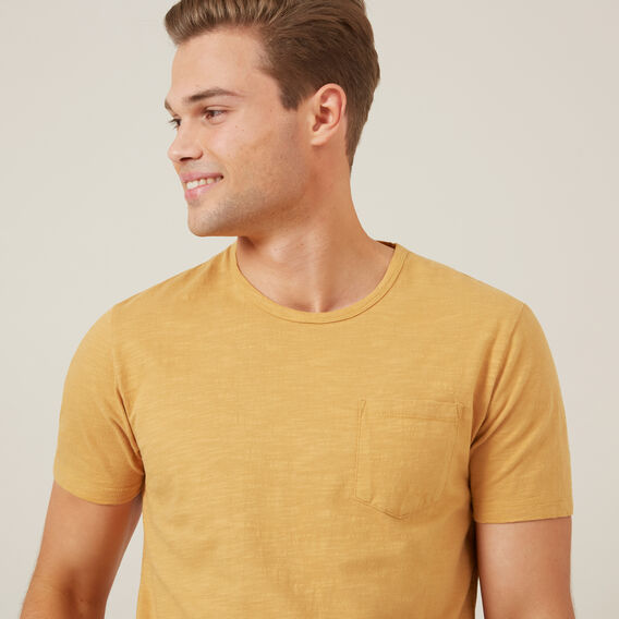 SNOW WASH SLUB T-SHIRT  MUSTARD  hi-res