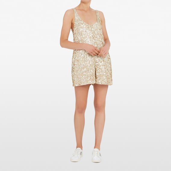 DIA SHINE PLAYSUIT  GOLD  hi-res