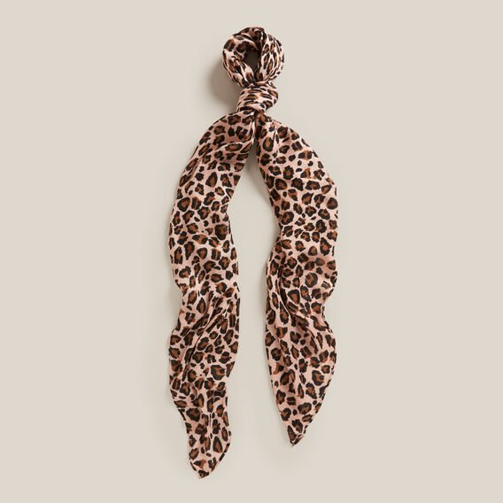 BLUSH ANIMAL SCARF  BLUSH/BLACK  hi-res