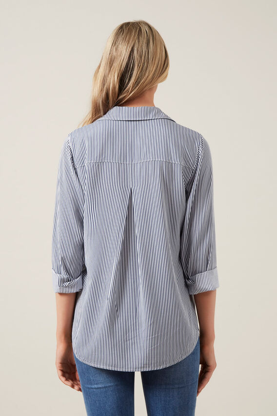 SOFT ESSENTIAL SHIRT  NOCTURNAL/WHITE  hi-res