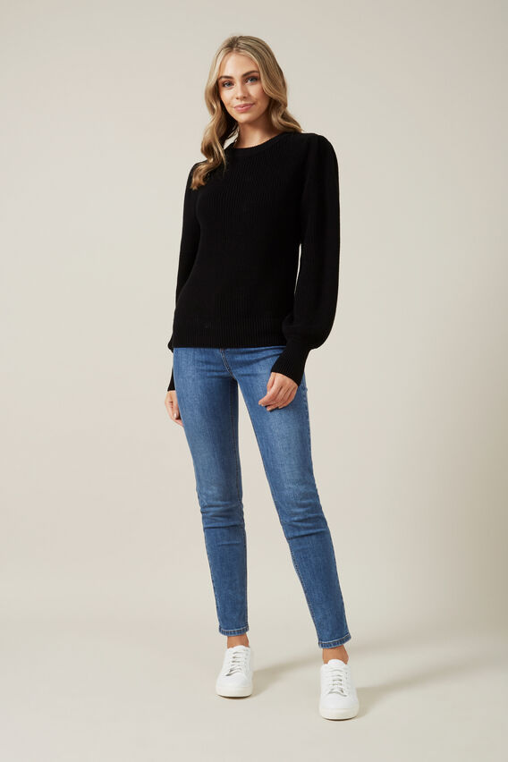 FULL SLEEVE KNIT  BLACK  hi-res
