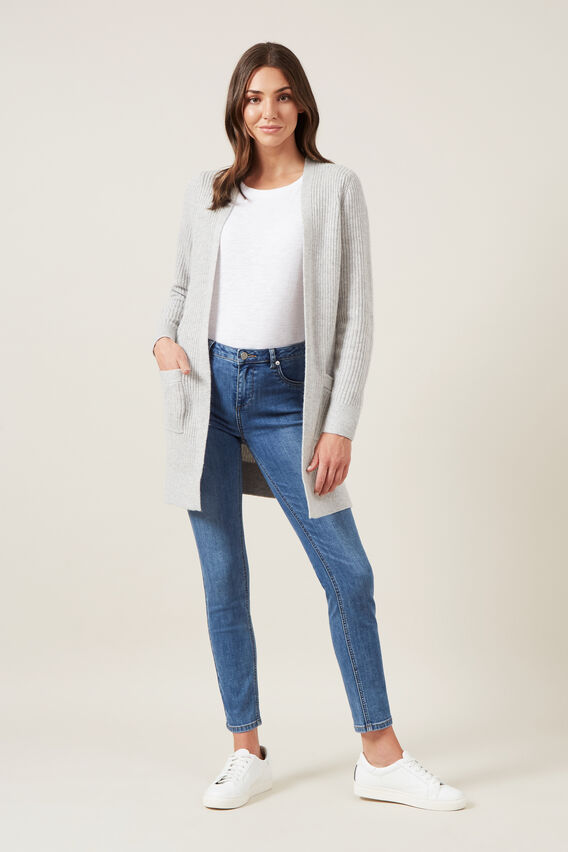 BOYFRIEND CARDIGAN  SOFT GREY  hi-res