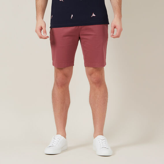 SLIM FIT CHINO SHORT  WASHED BERRY  hi-res