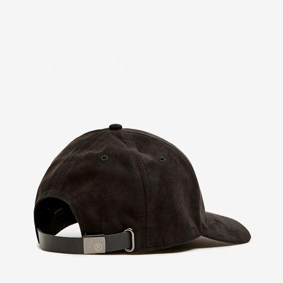 FAUX SUEDE CAP  BLACK  hi-res