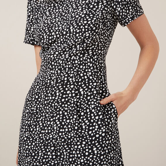 ABSTRACT SPOT JUMPSUIT  BLACK/MULTI  hi-res