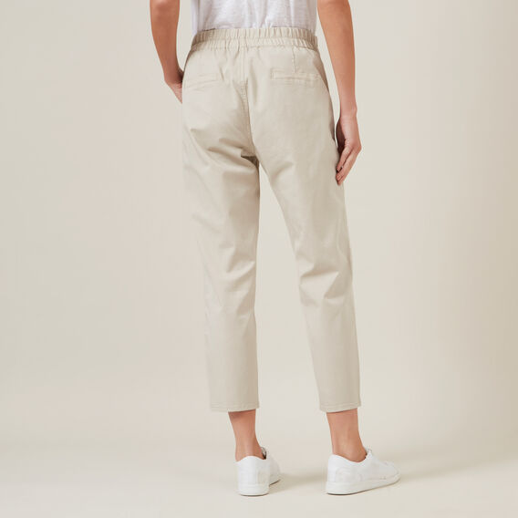 RELAXED COTTON STRETCH PANT  STONE  hi-res