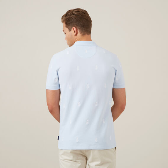 PINEAPPLE EMBROIDERED POLO  PALE BLUE  hi-res