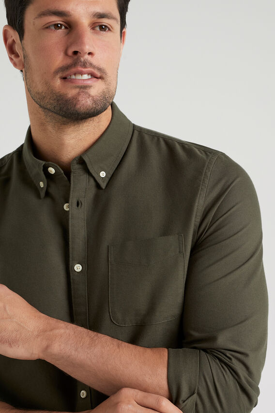 OXFORD REGULAR FIT SHIRT  MILITARY GREEN  hi-res