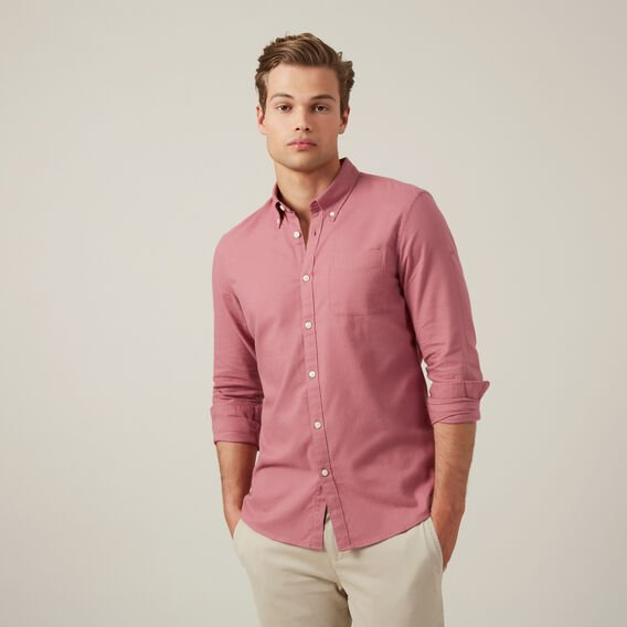 WASHED BERRY CUSTOM FIT SHIRT  WASHED BERRY  hi-res