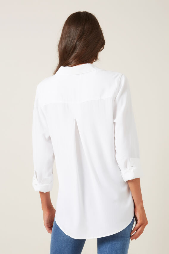 SOFT ESSENTIAL SHIRT  WHITE  hi-res