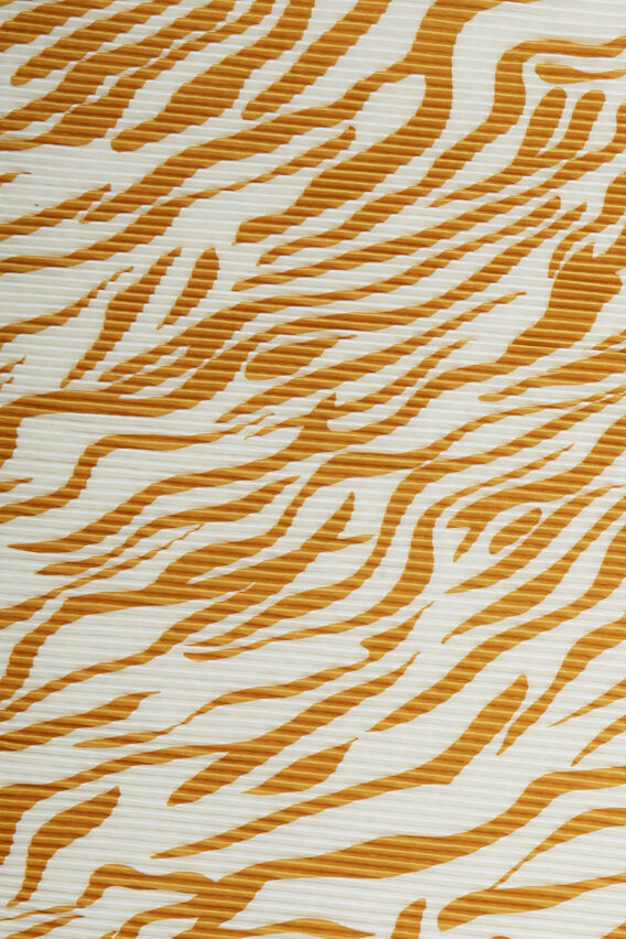 TIGER PLEATED SCARF   WHITE/YELLOW  hi-res