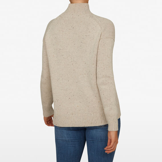OVERSIZED ROLL NECK KNIT  OATMEAL  hi-res