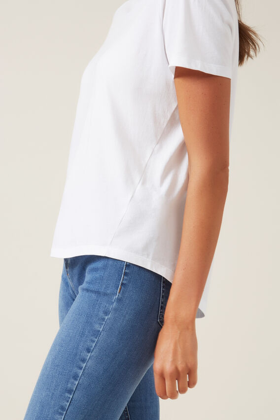 RELAXED FIT T-SHIRT  WHITE  hi-res