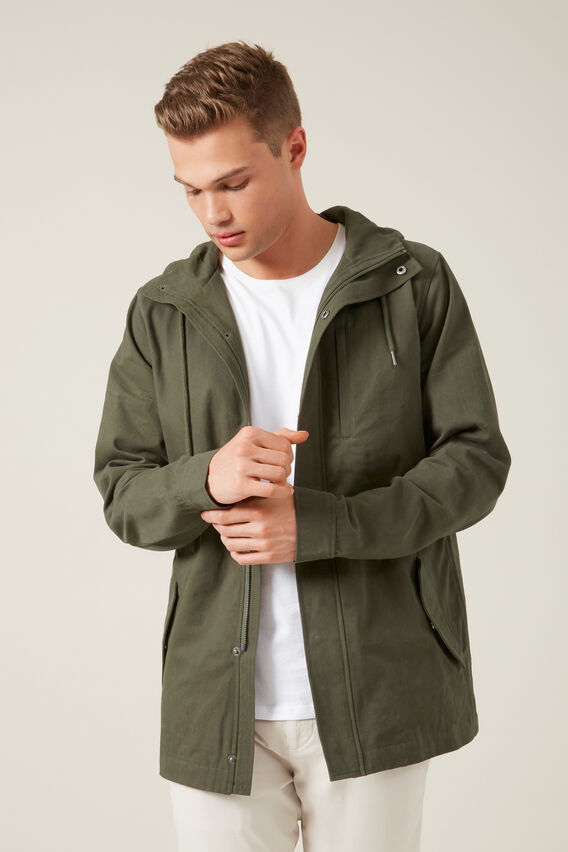 LONGLINE ANORAK  MILITARY GREEN  hi-res