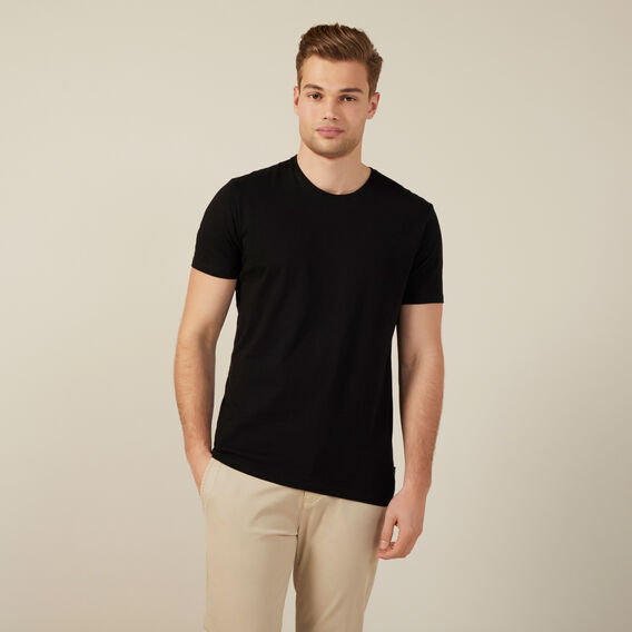 CLASSIC CREW NECK T-SHIRT  BLACK  hi-res
