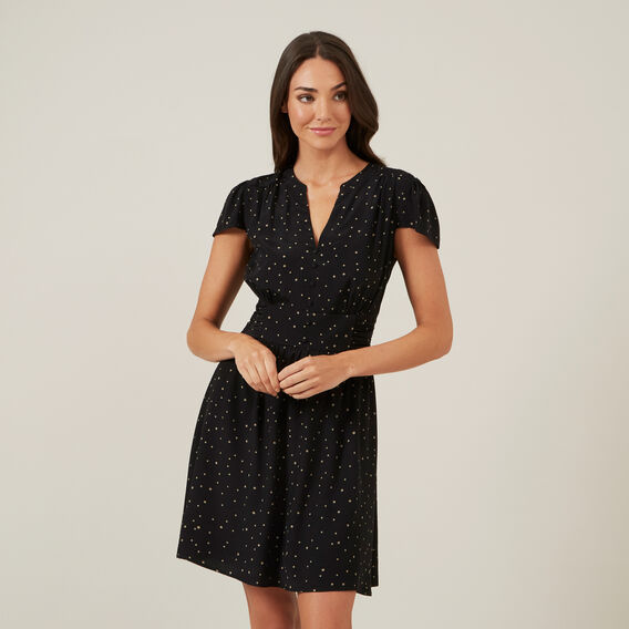 SPOT MINI DRESS  BLACK  hi-res