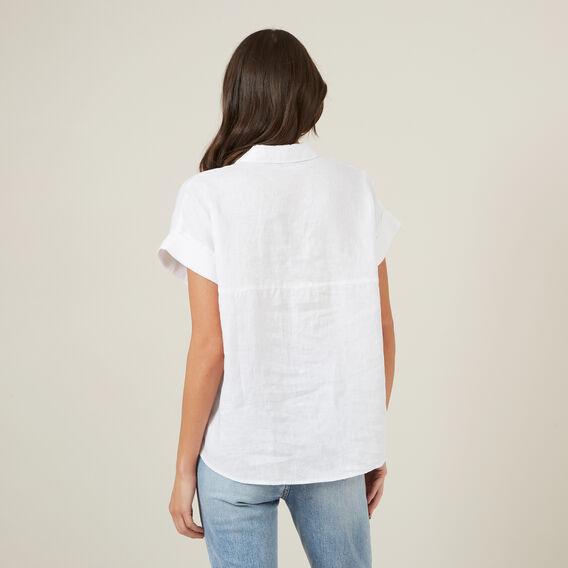 RELAXED LINEN S/S SHIRT  WHITE  hi-res