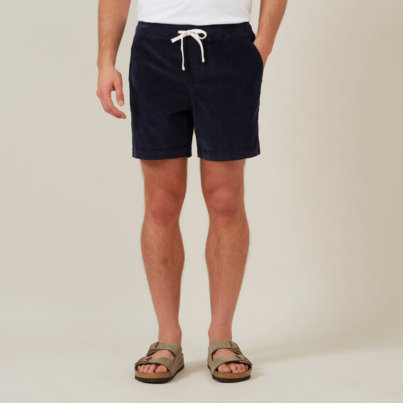 CORD PULL ON SHORT  OXFORD BLUE  hi-res