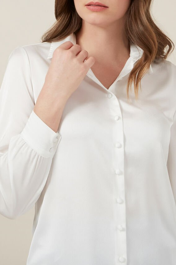 CLASSIC BUTTON UP SHIRT  WHITE  hi-res
