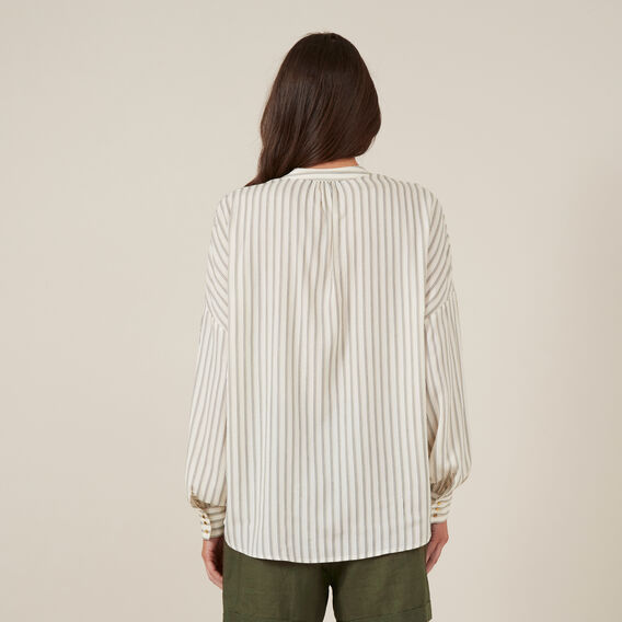 OVERSIZED STRIPE SHIRT  OFF WHITE  hi-res