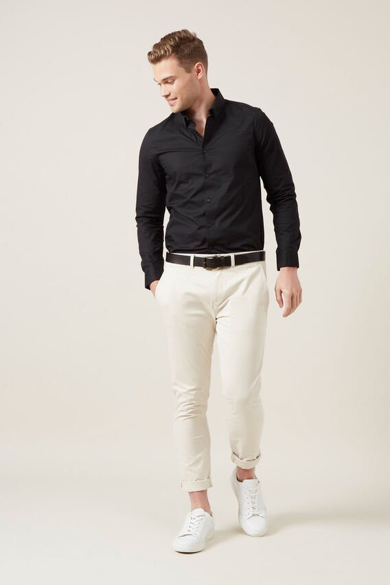 FORMAL SLIM FIT SHIRT  BLACK  hi-res