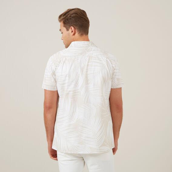WHITE PALM S/S CLASSIC FIT SHIRT  WHITE/STONE  hi-res