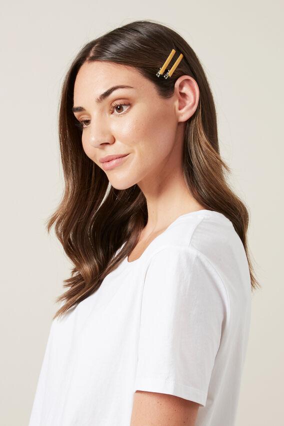 THIN HAIR CLIPS 4 PACK  MULTI  hi-res