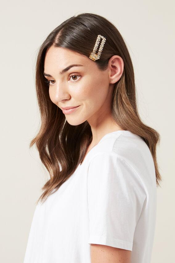 RHINESTONE HAIR CLIP  MULTI  hi-res