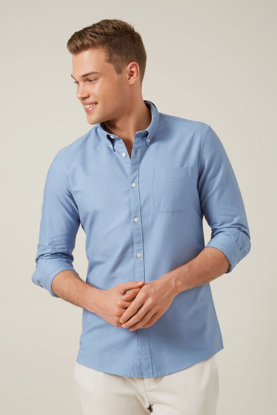 OXFORD SLIM FIT SHIRT  POWDER BLUE  hi-res