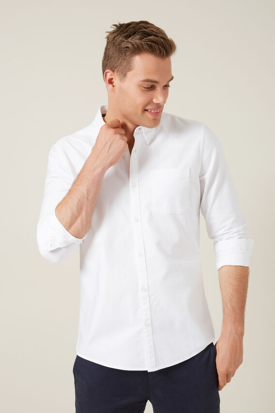 OXFORD REGULAR FIT SHIRT  WHITE  hi-res
